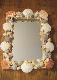 bathroom craft ideas craft u2013 seashell embellished mirror the enchanted manor