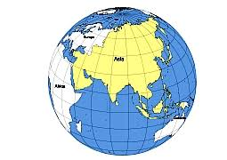 asia globe map asia on the globe outline map