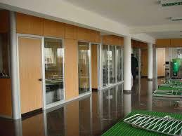 ergonomic wooden glass partition office wood pallet room divider
