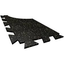 reflex tile square or interlocking resilient rubber
