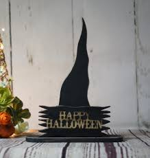 rustic halloween witch hat shelf sitter primitive halloween