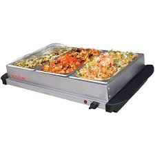 Buffet Server With Warming Tray by Maxim Electric Buffet Server Food Warmer Stainless Steel W 3x 2l