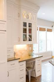 kitchen cabinet desk ideas kitchen cabinetry the crisscross design the glass top