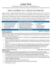 Art Director Resume Sample by Creative Director Resume Example Copywriter Marketing