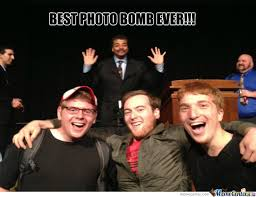 Neil Tyson Meme - neil degrasse tyson photo bomb by trav2016 meme center