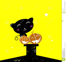 black halloween cat silhouette stock images image 20635944