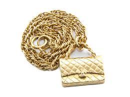 luxury necklace box images Authentic chanel vintage gold chain matelasse bag motif necklace jpg