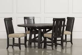 Kitchen And Dining Room Tables Jaxon 5 Piece Extension Round Dining Set W Wood Chairs Living Spaces