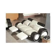 canapé relax design canapé relax design 3 2 places blanc et noir achat vente canapé