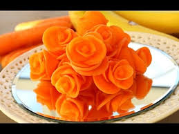 Food Decoration Images How To Make Carrot Flowers Vegetable Carving Garnish Sushi
