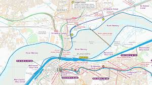 Manchester England Map by Manchester Ship Canal U2013 Waterway Routes
