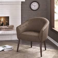 Brown Accent Chairs Amazon Com Barrel Back Accent Chair Mushroom Camilla Kitchen