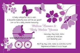 purple butterfly baby shower invitations theruntime