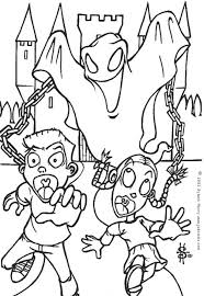 scary ghost coloring pages hellokids