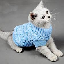 sweaters for cats amazon com turtleneck pet cats sweater aran pullover knitted