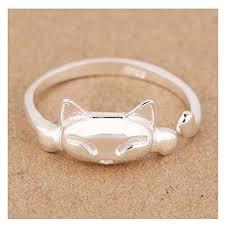 finger rings design images S e women 39 s simple design 925 sterling silver rings cute cat shape jpg