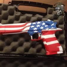 Flag Toms Desert Eagle With American Flag Theme Toms Custom Guns