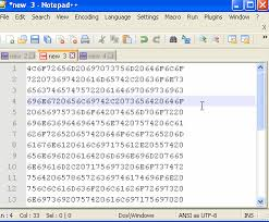 Hex Ascii Table Ascii To Hex And Hex To Ascii Conversion Notepad Code2care