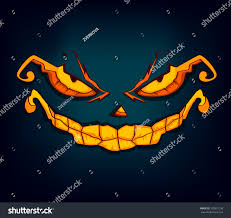 halloween monsters vector illustration face square stock vector