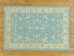 4 u0027x6 u0027 hand knotted pure wool peshawar sky blue oriental rug