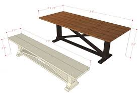Free Building Plans For Outdoor Furniture remodelaholic rustic x dining table and bench building plan