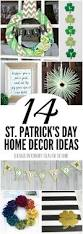 Shamrock Decorations Home St Patrick U0027s Day Home Decor 14 Crafts And Printables