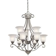 Kichler Lighting Chandelier Kichler 43226oz Nine Light Chandelier Home Improvement