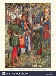 illustration from the story of robin hood king richard the