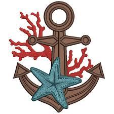 with starfish marine applique machine embroidery design digitized