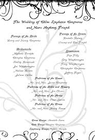 one page wedding programs trietch wedding programs by ghostblade 13 on deviantart