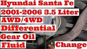 hyundai santa fe 2001 2006 3 5 liter six cylinder awd 4wd