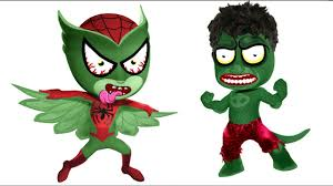 pj masks zombie spider man hulk coloring pages for kids zombies