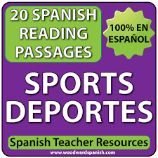 sports u2013 spanish reading passages and comprehension worksheets