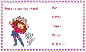 printable birthday invitations strawberry shortcake card invitation design ideas printable birthday invitations walmart