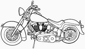motorcycle coloring pages transportation printable coloring pages