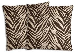 brown and beige zebra outdoor pillow set contemporary outdoor