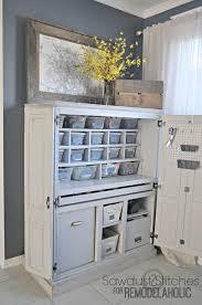 Craft Room Cabinets Remodelaholic Craft Cabinet Makeover