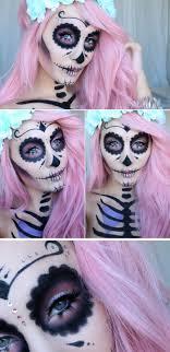 sugar skull makeup tutorial hiilen sminkg skonhetsg pink