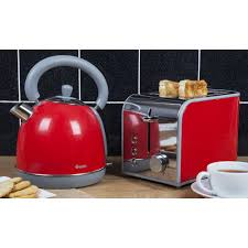 Silver Toaster And Kettle Set Toaster And Kettle Sets Swan Stainless Steel Kettle U0026 4 Slice