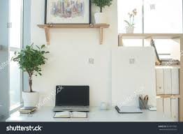 Office Table Front View Front View Picture Studio Workplace Blank Stock Photo 561817702