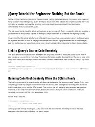 javascript tutorial online book jquery tutorial beginners j query html