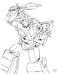 Transformers Clipart Colouring Page Pencil And In Color Transformer Color Page