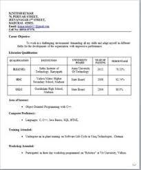 Best Resume For Freshers by Download Resume Freshers Format Haadyaooverbayresort Com