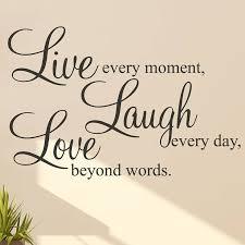 live laugh love laugh love words wall art sticker