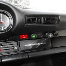 silver porsche new 911 radio delete plate w silver porsche script 1965