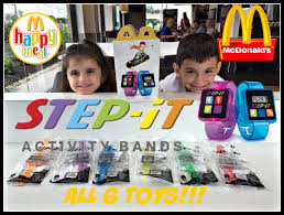 mcdonalds step it activity bands happy meal toys august 2016