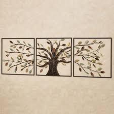 changing brown tree metal wall set