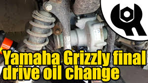 1809 yamaha grizzly 450 tuff torq final drive oil change youtube