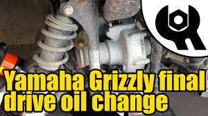 1809 yamaha grizzly 450 tuff torq final drive oil change youtube