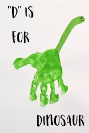 letter handprint art kids